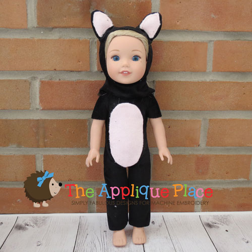 14 Inch Doll Cat Suit
