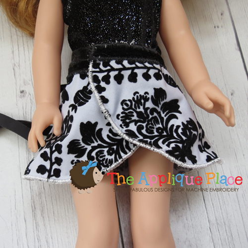 14 Inch Doll Wrap Skirt