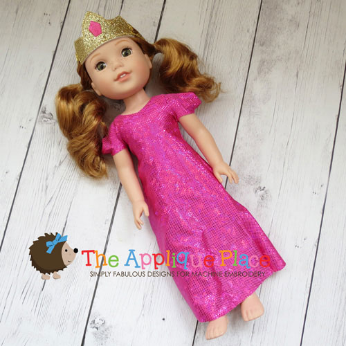 14 Inch Doll Princess Dress and Crown