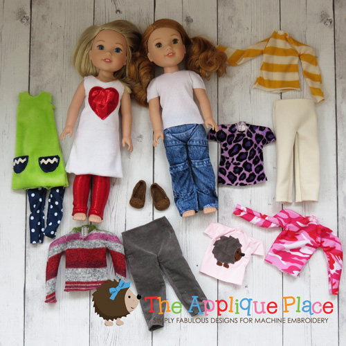 -14 Inch Doll Clothing Set - Cute & Casual