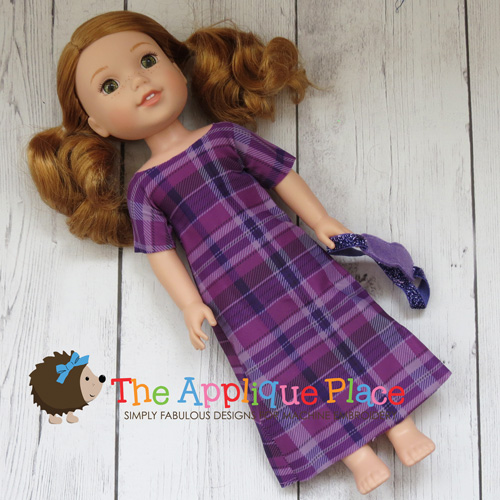 14 Inch Doll Nightgown and Mask