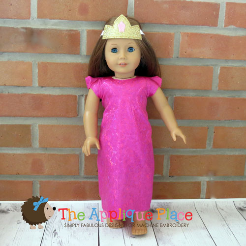 18 Inch Doll Princess Dress and Crown