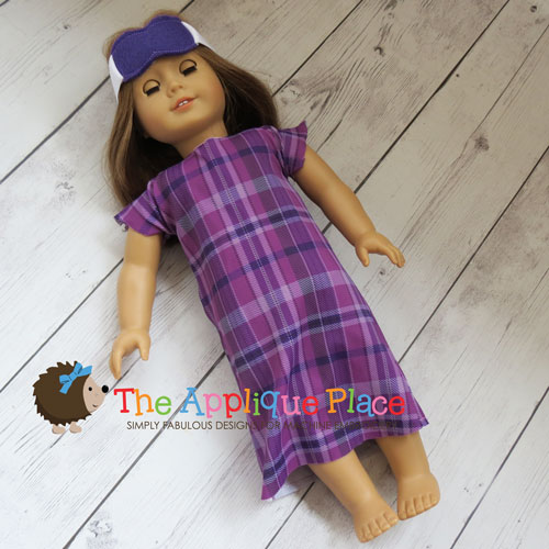 18 Inch Doll Nightgown and Mask