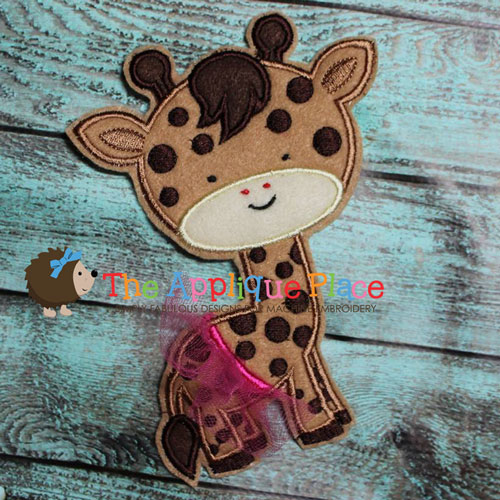 Tutu Giraffe Applique