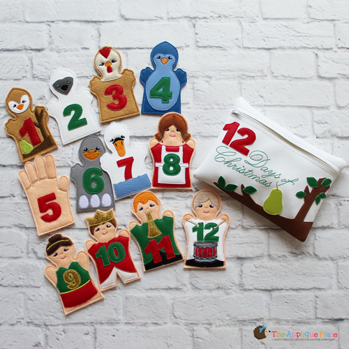 Puppet Set - 12 Days of Christmas (FINGER Puppets ONLY)