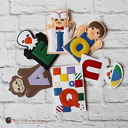 Puppet Set - Add-on Alphabet -vowels (FINGER Puppets ONLY)