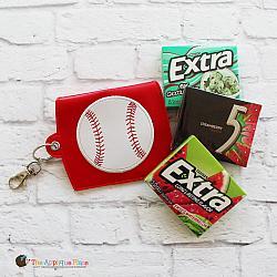 Key Fob - Gum Case - Version 2 - Baseball (Eyelet)