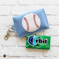 Key Fob - Gum Case - Version 3 - Baseball (Eyelet)