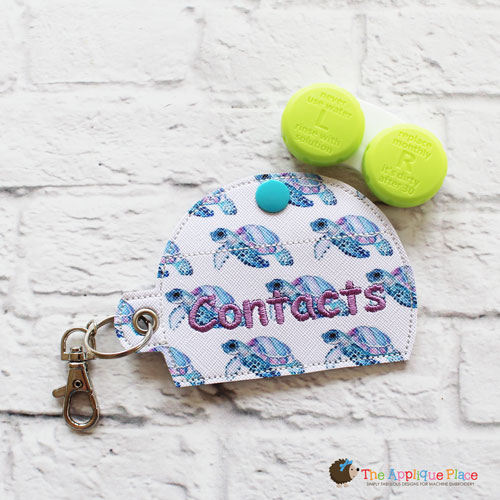 Key Fob - Contacts Case (Eyelet)