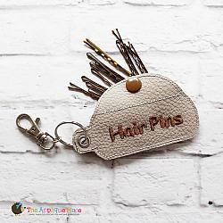 Key Fob - Hair Pins Case (Eyelet)