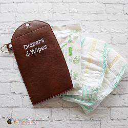 Key Fob - Diapers & Wipes Case (Snap Tab)