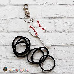Key Fob - Hair Thing Holder - Baseball (Eyelet)