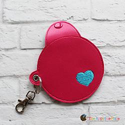 Key Fob - Round Mint Case (Eyelet)