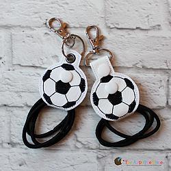 Key Fob - Hair Thing Holder - Soccer Ball