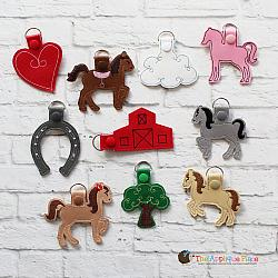 Key Fobs - Horses - Set of 10