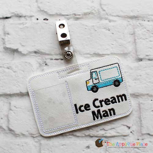 ITH - Ice Cream Man ( and Lady) Badge ID Tag