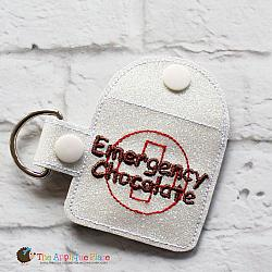 Key Fob - Emergency Chocolate Case - Square (Snap Tab)