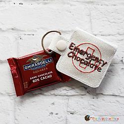 Key Fob - Emergency Chocolate Case - Square (Snap Tab)