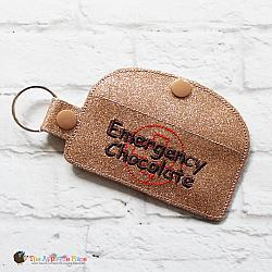 Key Fob - Emergency Chocolate Case - Rectangle (Snap Tab)