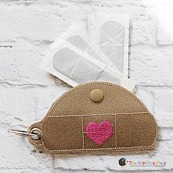 Key Fob - Bandage Case - Heart (Eyelet)
