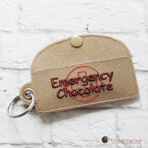 Key Fob - Emergency Chocolate Case - Rectangle (Eyelet)