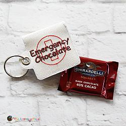 Key Fob - Emergency Chocolate Case - Square (Eyelet)