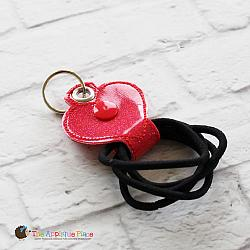 Key Fob - Hair Thing Holder - Heart (Eyelet)