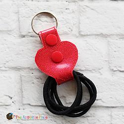 Key Fob - Hair Thing Holder - Heart (Snap Tab)