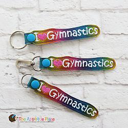 Key Fob - I Heart Gymnastics