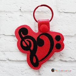 Key Fob - Music Clefs