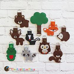 Key Fobs - Woodland - Set of 10
