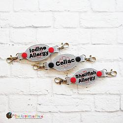 ITH - Medical Alert Bracelet/Double Key Fob - Celiac