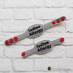 ITH - Medical Alert Bracelet/Double Key Fob - Iodine Allergy