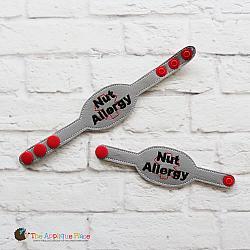 ITH - Medical Alert Bracelet/Double Key Fob - Nut Allergy