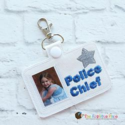 ITH - Police Chief Badge ID Tag