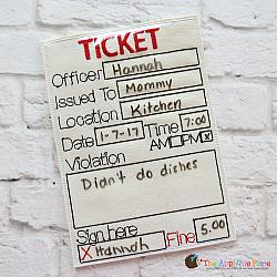 ITH - Police Ticket
