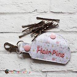 Key Fob - Hair Pins Case (Snap Tab)