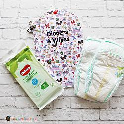 Key Fob - Diapers & Wipes Case (Eyelet)