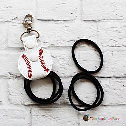 Key Fob - Hair Thing Holder - Baseball (Snap Tab)