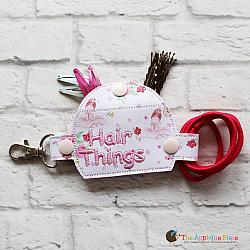 Key Fob - Hair Things Case (Snap Tab)