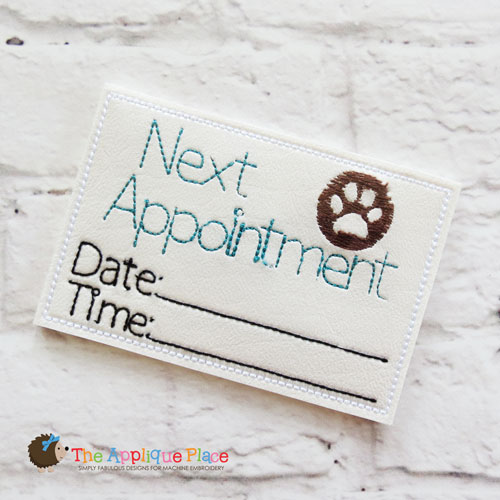 ITH - Vet Appointment Card