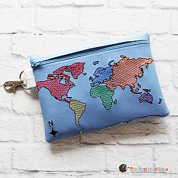 In the Hoop World Map Bag (5x7)