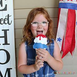 Pretend Play - ITH - Patriotic Ice Cream Cone