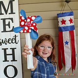 Pretend Play - ITH - Patriotic Pinwheel