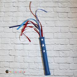 Pretend Play - ITH - Patriotic Ribbon Wand