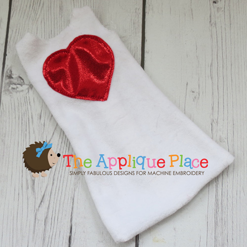 Doll Clothing - 14 Inch Doll Heart Applique