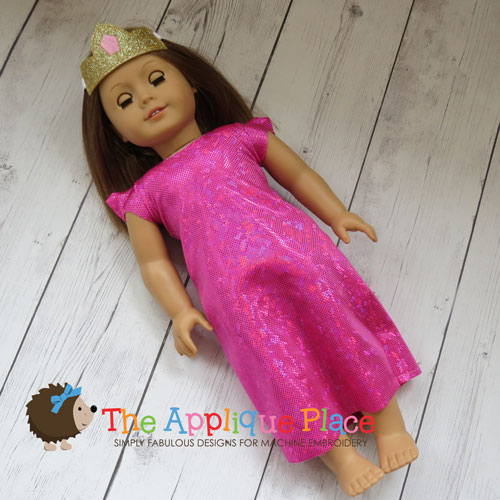 Doll Clothing - 18 Inch Doll Princess Dress and Crown