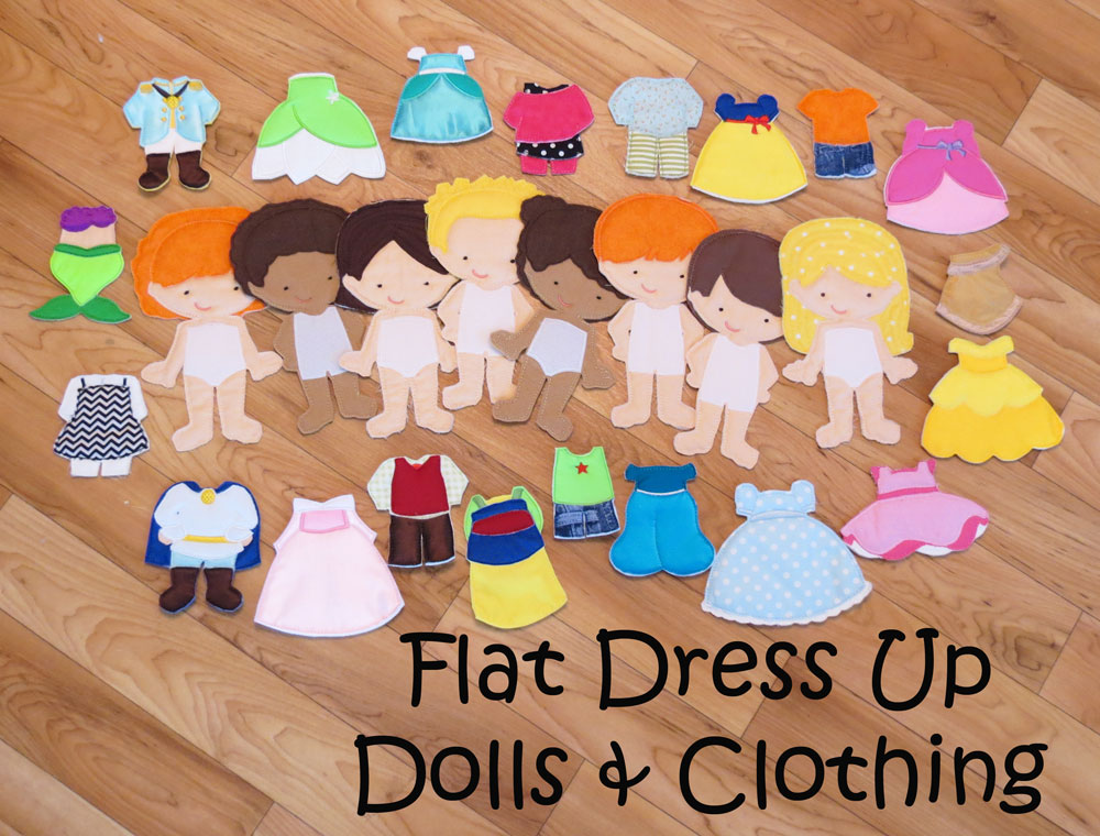 ITH Flat Dolls (Dress Up Dolls)