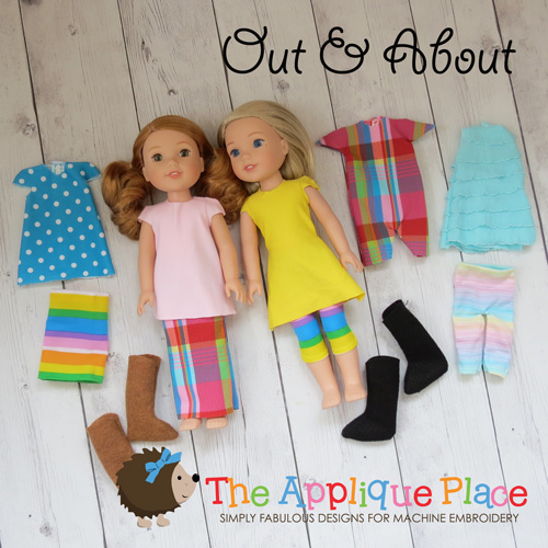 Doll Clothing -14 Inch Doll Clothing Set - Out & About