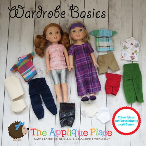 Doll Clothing -14 Inch Doll Clothing Set - Wardrobe Basics